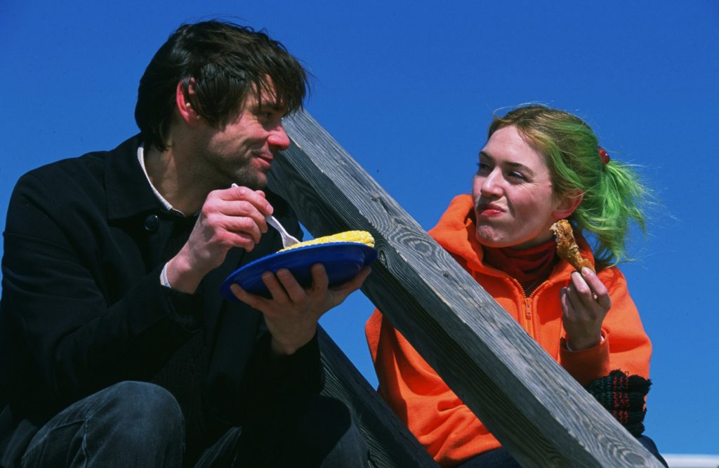 Eternal Sunshine of the Spotless Mind (2004) Directed by Michel Gondry Shown (from left): Jim Carrey (as Joel Barish), Kate Winslet (as Clementine Kruczynski)